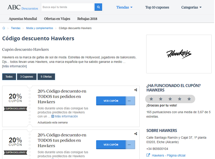 Imagen - Dónde conseguir descuentos online para Hawkers