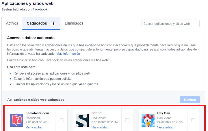 Imagen - Cómo ver las apps con acceso a Facebook