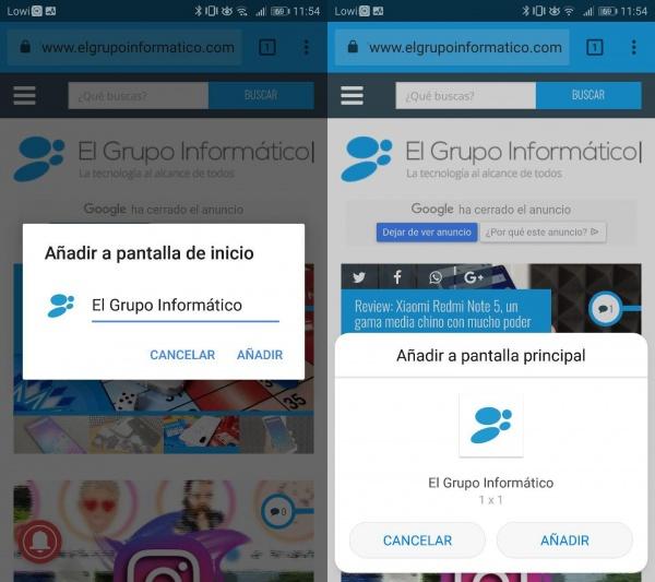 Imagen - Cómo crear un acceso directo a una web en Android