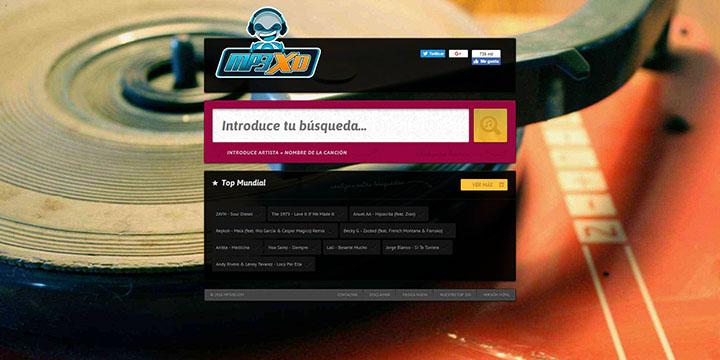 Imagen - MP3XD, una web para escuchar y descargar música gratis
