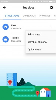 Imagen - Cómo quitar el mensaje de tiempo para llegar a casa de Google Maps