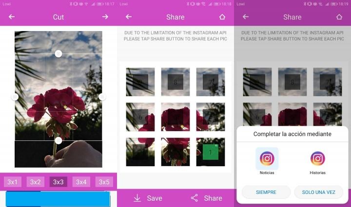 Imagen - 9Cut For Instagram, crea diseños de 9 imágenes