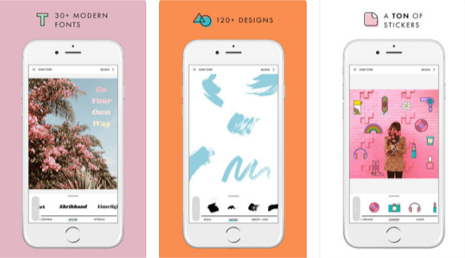Imagen - A Design Kit, una app para diseñar coloridas Instagram Stories