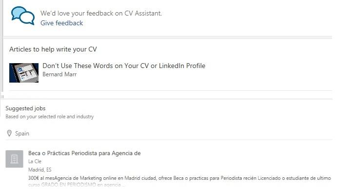Imagen - Crea tu CV con el asistente de LinkedIn en Word