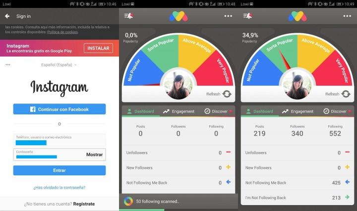 Imagen - FollowMeter, la app para saber quién no te sigue en Instagram