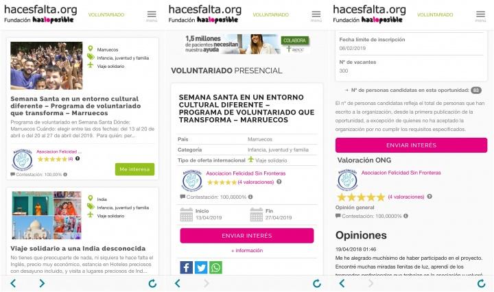 Imagen - Hacesfalta.org, la app de voluntariado y empleo en ONG