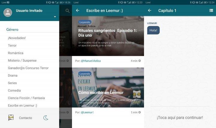 Imagen - Leemur, la app para leer historias en forma de chat
