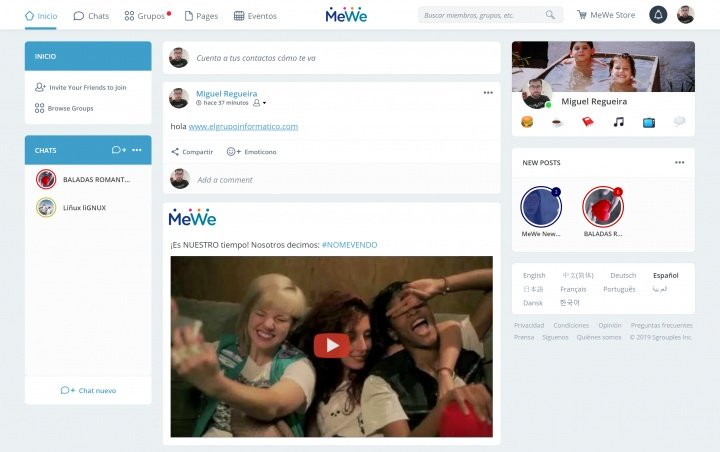 Imagen - MeWe, la red social alternativa a Facebook
