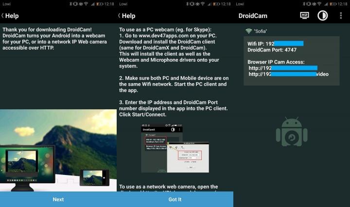 Imagen - Cómo usar la cámara del móvil Android como webcam del ordenador