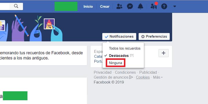 Imagen - Cómo desactivar los recuerdos de Facebook