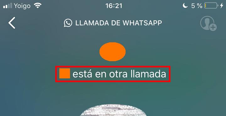 """Imagen - ¿Qué significa """"está en otra llamada"""" en WhatsApp?"""