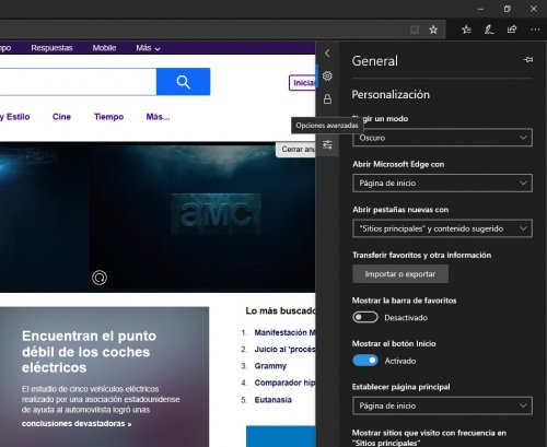 Imagen - Cómo cambiar el motor de búsqueda en Microsoft Edge