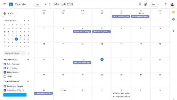 Imagen - 8 plantillas de calendario del año 2019