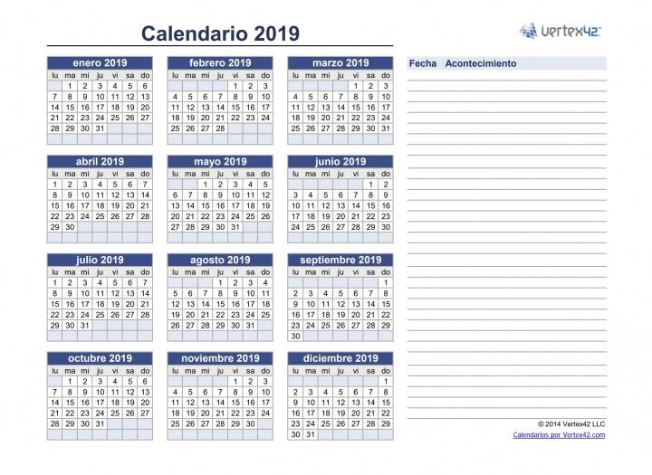 Calendario Laboral Madrid 2020 Excel.Plantilla Calendario 2020 Excel