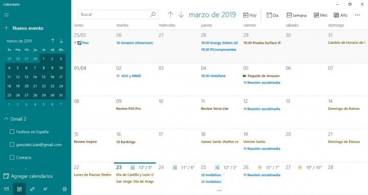 Imagen - Cómo utilizar la aplicación Calendario y Contactos de Windows 10 como un profesional