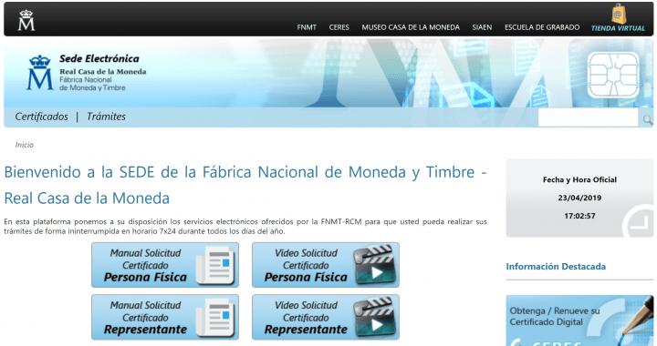 Imagen - Cómo obtener el Certificado Digital de la FNMT de Persona Física