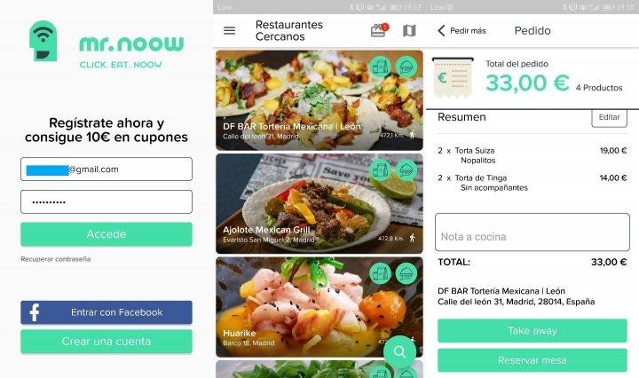 Imagen - Mr. Noow, la aplicación para mirar la carta, pedir y pagar en los restaurantes