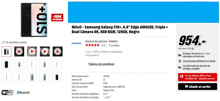 Imagen - 6 tiendas donde comprar el Samsung Galaxy S10+
