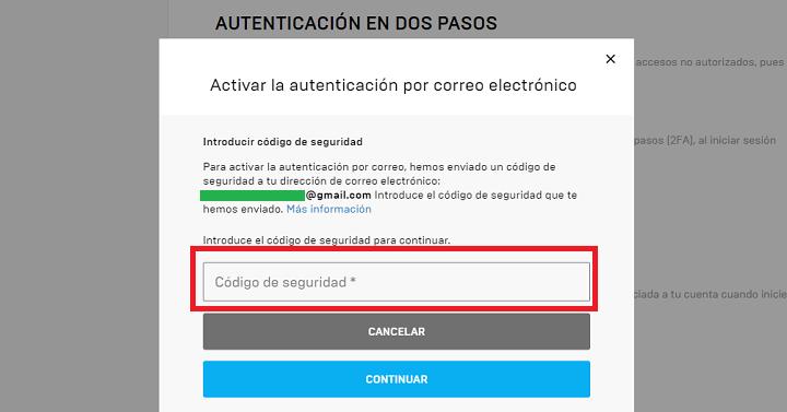 Imagen - Cómo activar la autenticación en dos pasos en Fortnite