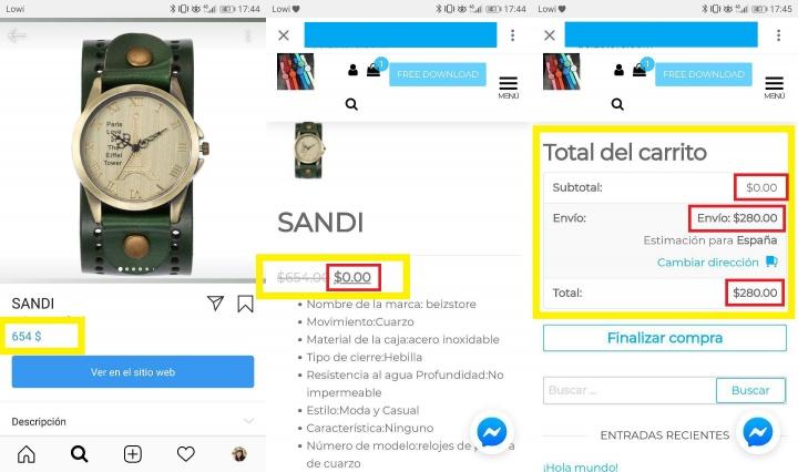 Imagen - Consigue relojes gratis por Instagram, ¿es una estafa?