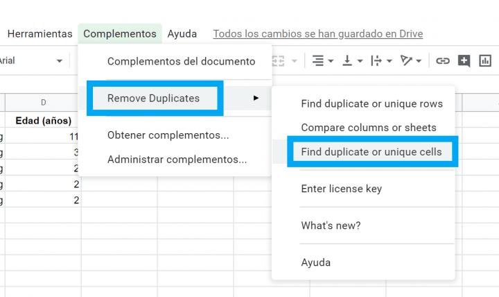 Imagen - Cómo eliminar duplicados en Google Sheets