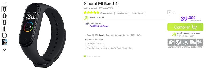 Imagen - Dónde comprar la Xiaomi Mi Band 4