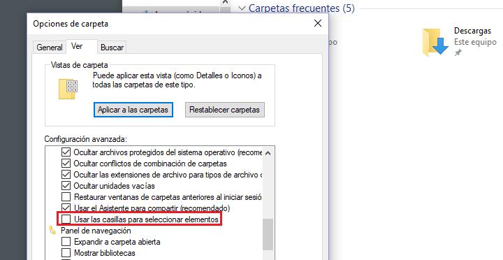Imagen - Cómo quitar el cuadro de selección de los iconos Windows 10