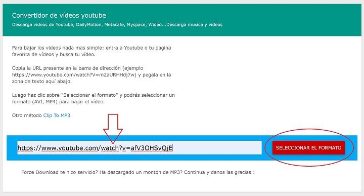 Imagen - Force Download, baja vídeos de YouTube