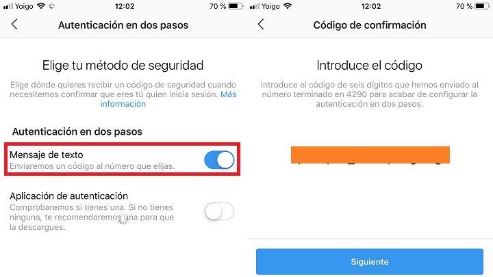 Imagen - Cómo activar la doble autenticación en Instagram