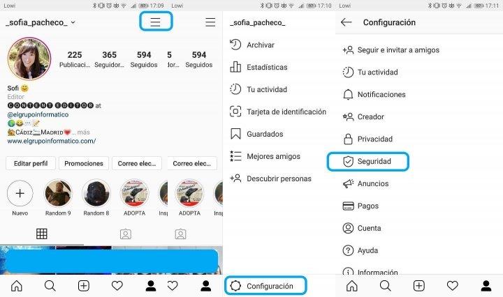 Imagen - Cómo cambiar la contraseña en Instagram