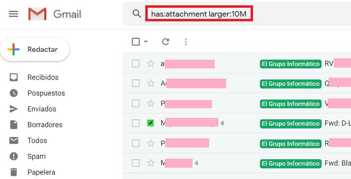 Imagen - Cómo liberar espacio de almacenamiento en Gmail