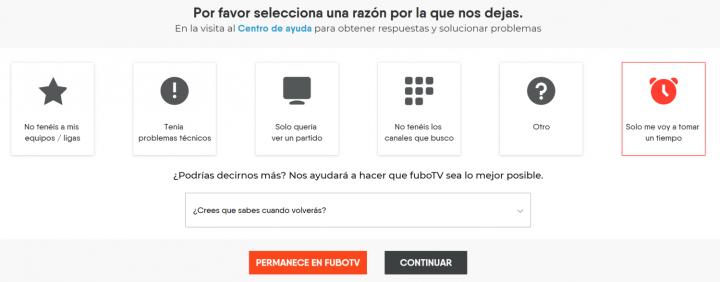 Imagen - Cómo darse de baja en FuboTV