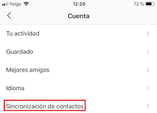Imagen - Cómo dejar de sincronizar los contactos del móvil en Instagram