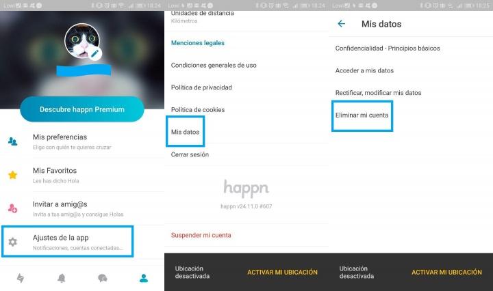 Imagen - Cómo eliminar una cuenta de Happn