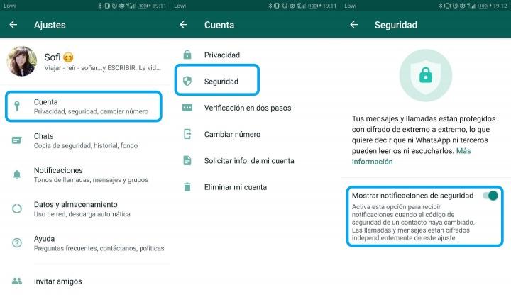 """Imagen - Cómo eliminar el mensaje """"El código de seguridad cambió"""" de WhatsApp"""