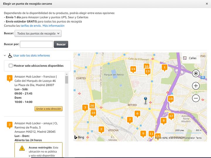 Imagen - Cómo encontrar puntos de recogida de Amazon