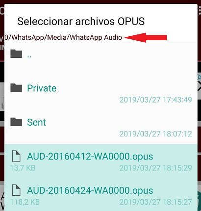 Imagen - Cómo convertir audios de WhatsApp a mp3