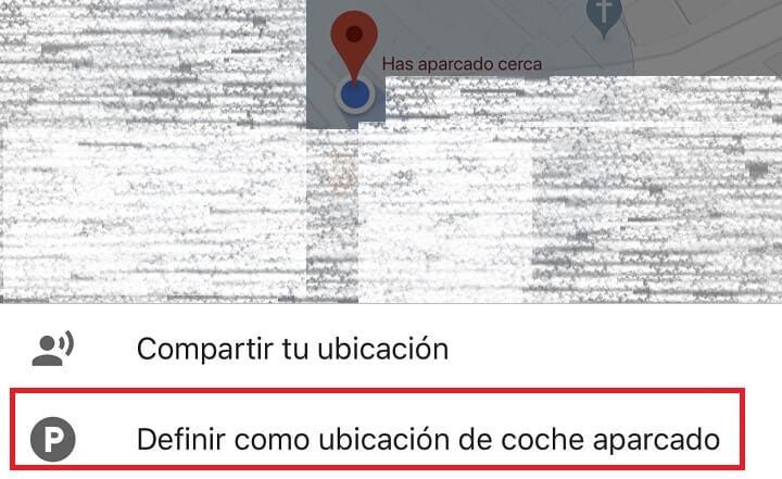 Imagen - Cómo guardar la ubicación del aparcamiento en Google Maps
