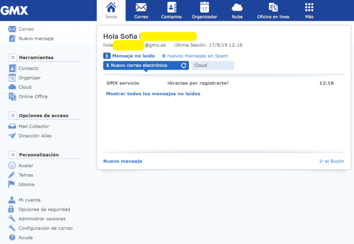 Imagen - Cómo crear una cuenta de correo en GMX