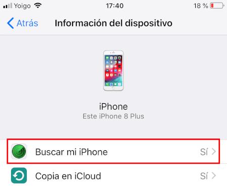 """Imagen - Cómo desactivar """"buscar mi iPhone"""""""