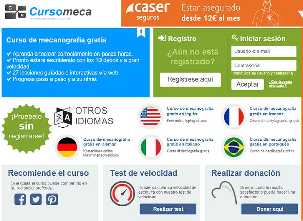 Imagen - Cursomeca, una web para aprender mecanografía gratis