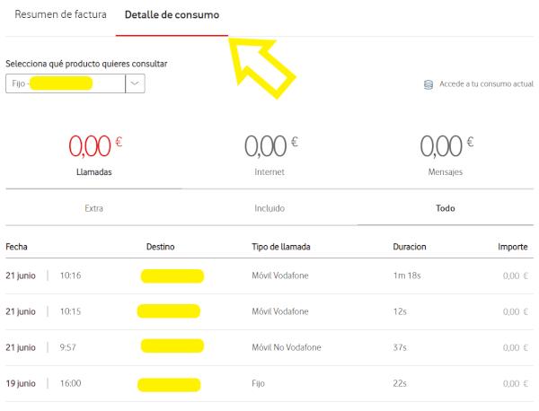 Imagen - Cómo consultar las facturas de Vodafone
