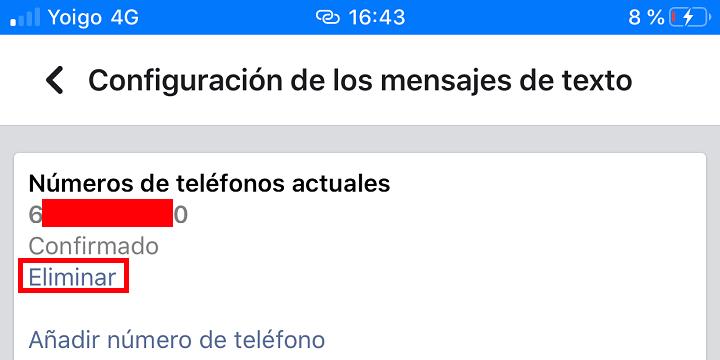 Imagen - Cómo eliminar mi número de teléfono de Facebook