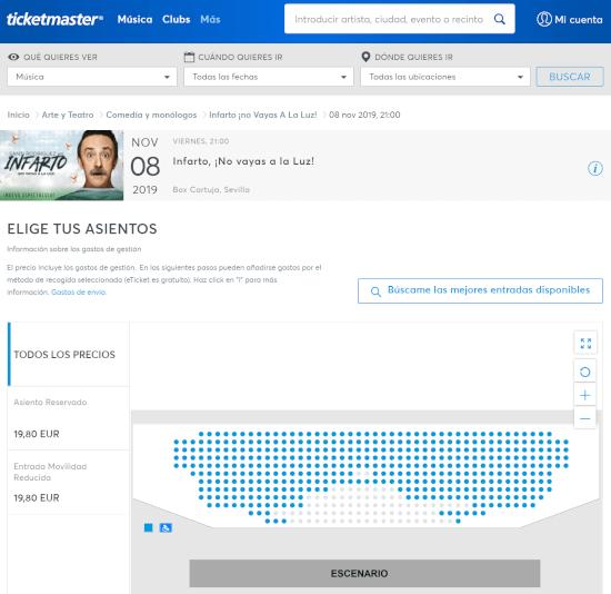 Imagen - Cómo se compran entradas en Ticketmaster