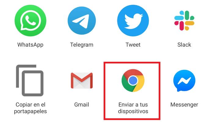 Imagen - Cómo enviar páginas web en Chrome del móvil al ordenador y viceversa