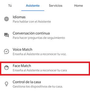 Imagen - Cómo activar Face Match en Google Assistant