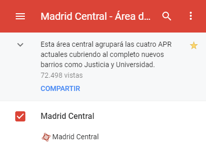 Imagen - Cómo evitar Madrid Central en Google Maps