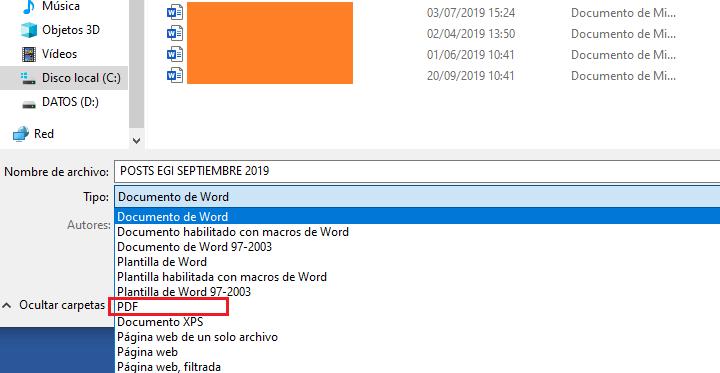 Imagen - Cómo guardar un Word como PDF
