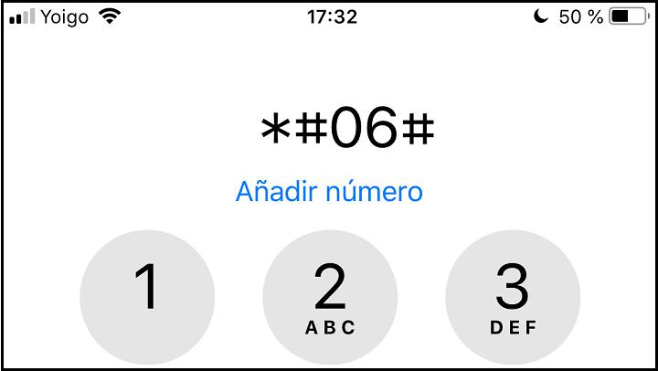 Imagen - Cómo saber el IMEI en iOS