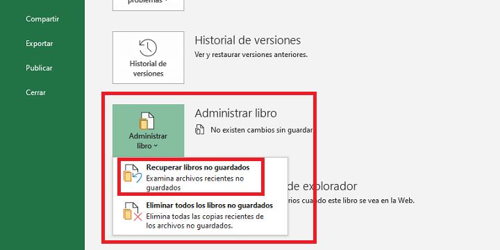 Imagen - Cómo recuperar un archivo de Excel no guardado